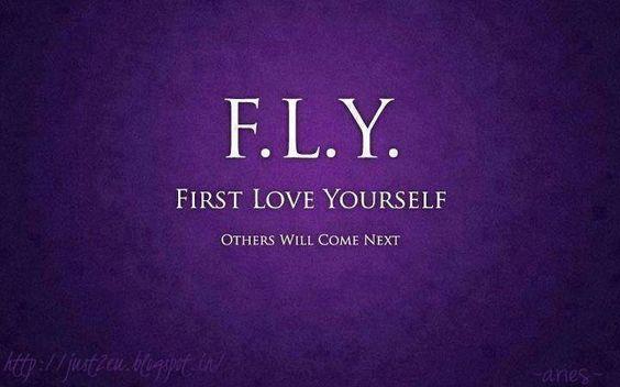 まず自分を好きになること。 ほかのことはそれから。