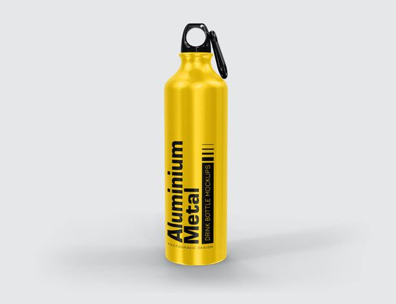 Download Aluminium Metal Drink Bottle Mockups Vectogravic Design Bottle Mockup Bottle Design Mockup Free