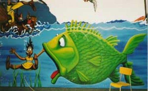 Historia De Jonas Y La Ballena Kids Church Decor Jonah And The Whale Church Nursery