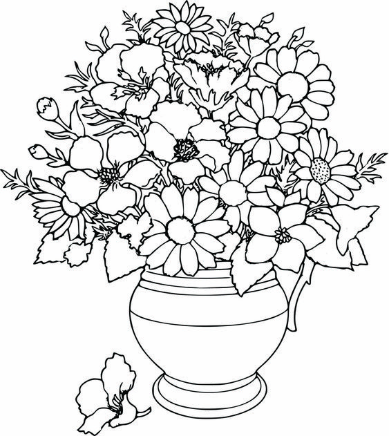 Colouring Pages Coloring Pages And Mothers Day Coloring Detailed Flower Coloring Pages