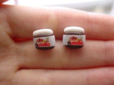 Nutella Earring Studs!!