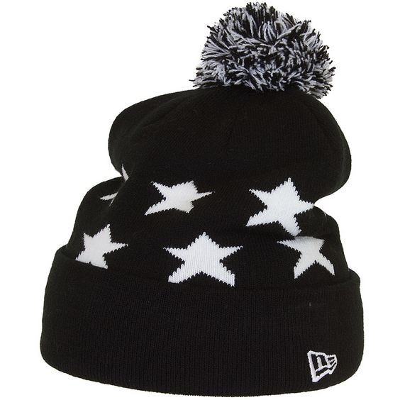New Era Starred Over Beanie schwarz/weiß ★★★★★