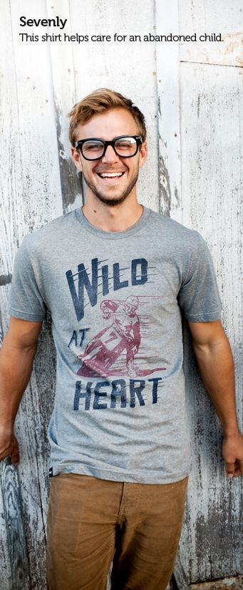 Each shirt sold provides food & 24hr care to an abandoned child. Help here -> www.sevenly.org/PinForGood