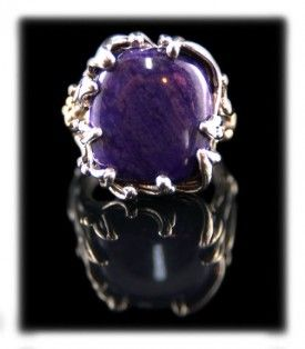 Penny's ring from her dad. Womens Metaphysical Sugilite Ring