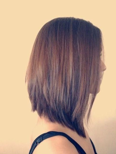 Explore Gallery Of Medium Length Inverted Bob Hairstyles 1 Of 15 Haircut For Thick Hair Long Bob Haircuts Medium Length Hair Styles