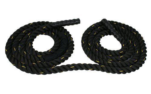 Zeny Black 2 Width Poly Dacron 40ft Length Battle Rope Workout Training Undulation Rope Fitness Rope Exercise Battle Rope Workout Rope Exercises Battle Ropes