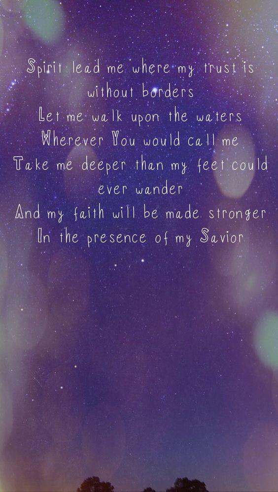 Deeper hillsong lyrics