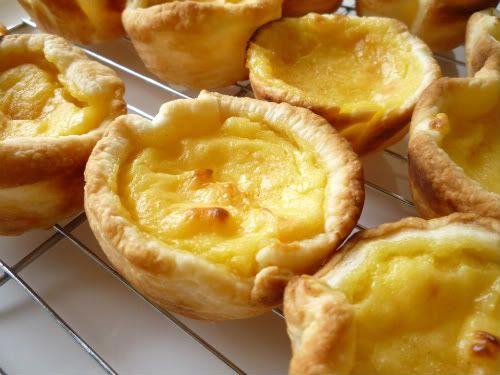 Pastel de nata. Portuguese custard tarts