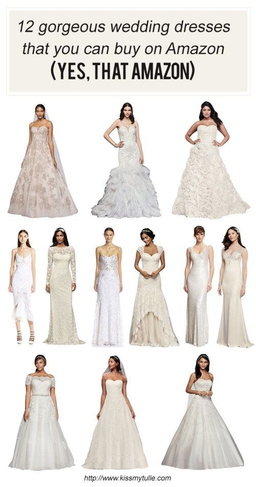 12 Gorgeous Wedding Dresses That You Can Buy On Amazon Yes That Amazon Kiss My Tulle Wedding Dresses Amazon Classic Wedding Dress Wedding Dresses