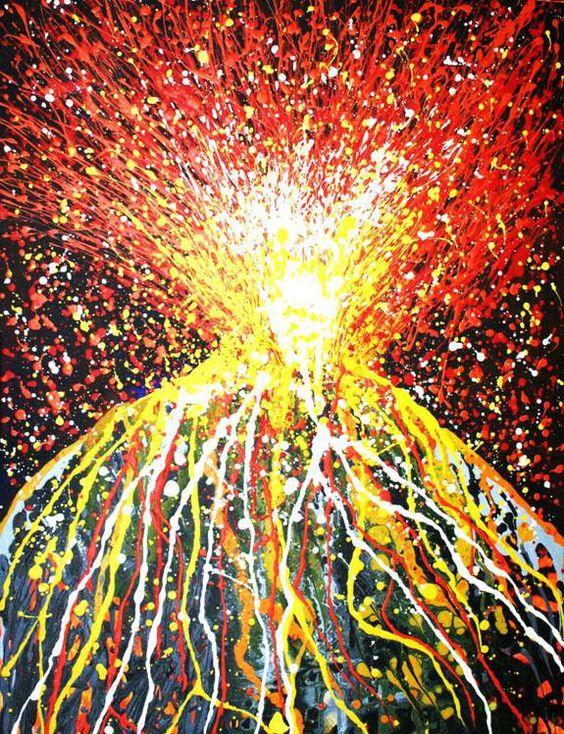 Image result for erupting volcanoes art