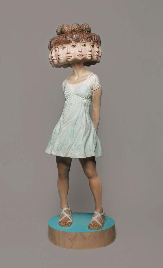 Le sculture in legno di Yoshitoshi Kanemaki #wood #sculpture