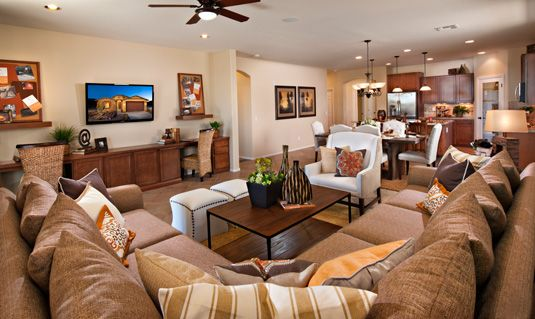 Model Home Living Room khov_west | #khov_az | vintage at rock springs | the champagne