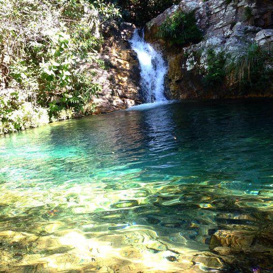 """""""Cachoeira Santa Bárbara 1!!! Ela é  menor que a 2... Mas não perde nada em beleza... Incrível como o Brasil é lindo, foi difícil pra chegar mas valeu…"""""""