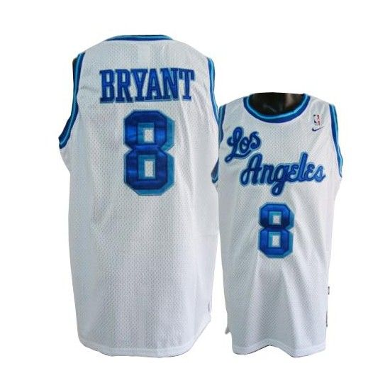 kobe bryant 8 jersey los angeles lakers authentic throwback white ...