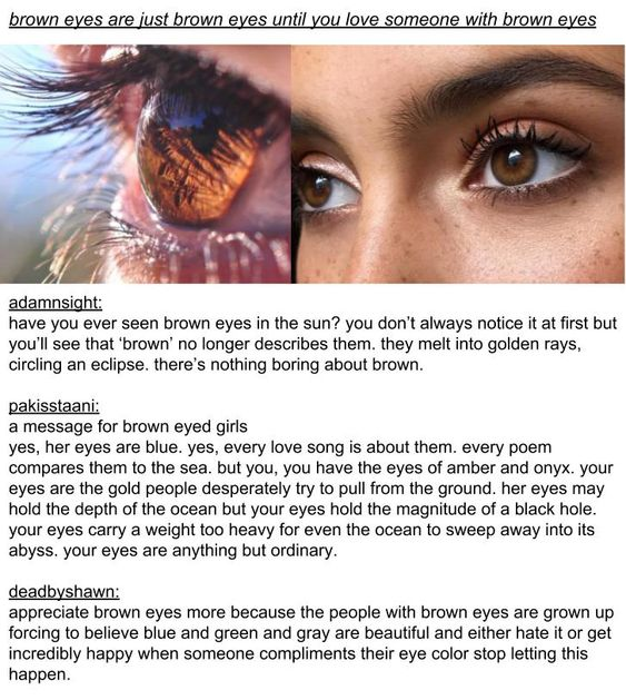 Appreciate Brown Eyes Brown Eye Quotes Brown Eyes Aesthetic Brown Eyes Facts