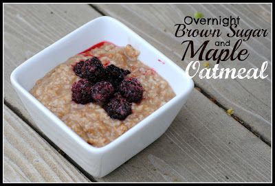 The Farm Girl Recipes: Overnight Brown Sugar and Maple Oatmeal