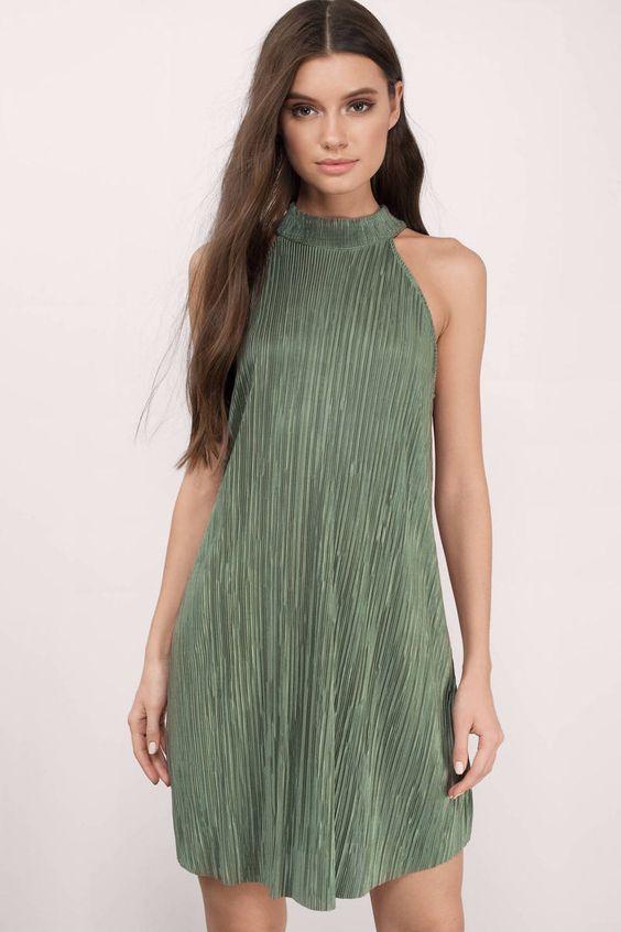 Olivia Pleated Shift Dress