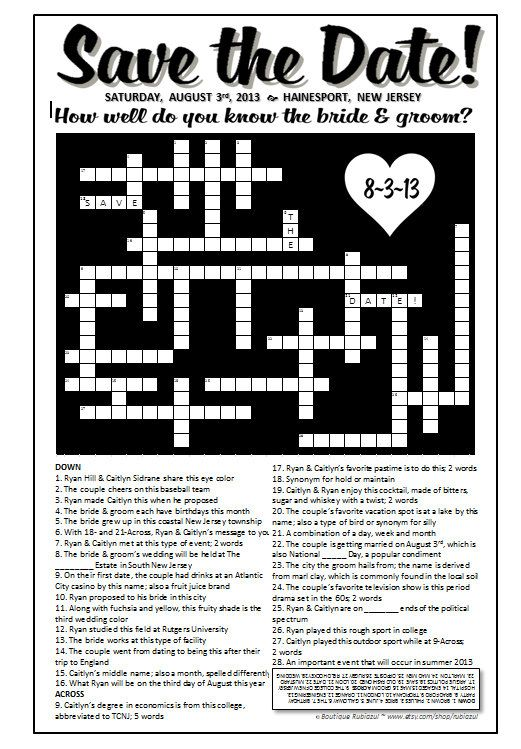 Stop dating crossword clue