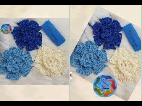 كروشيه وحدة وردة لعمل شال Crochet Flower Unit Crochet Necklace Crochet Jewelry