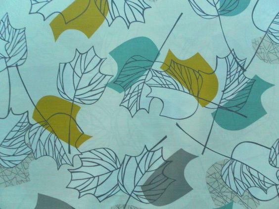 Sanderson Curtain Fabric MAPLE 2.1m Chaffinch 50s Style Cotton Mix Design in Crafts, Fabric | eBay