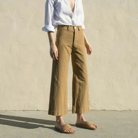 Awkward length pants worn with style www.emporiumhanoi.com