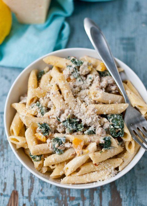 ... tables italian sausages kale pasta lemon pasta parmesan sausages