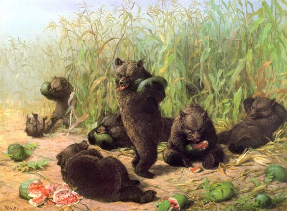 Bears in the Watermelon Patch William Holbrook Beard (1871):