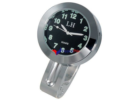 Horloge de guidon en alliage d'aluminium pour Vélo, Moto