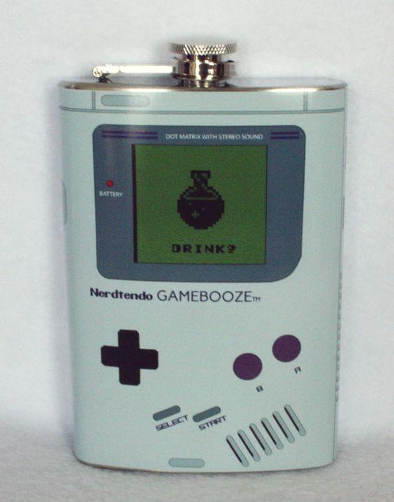 Nerdtendo Gamebooze Flask: Gaming Addiction Gone Too Far #geek
