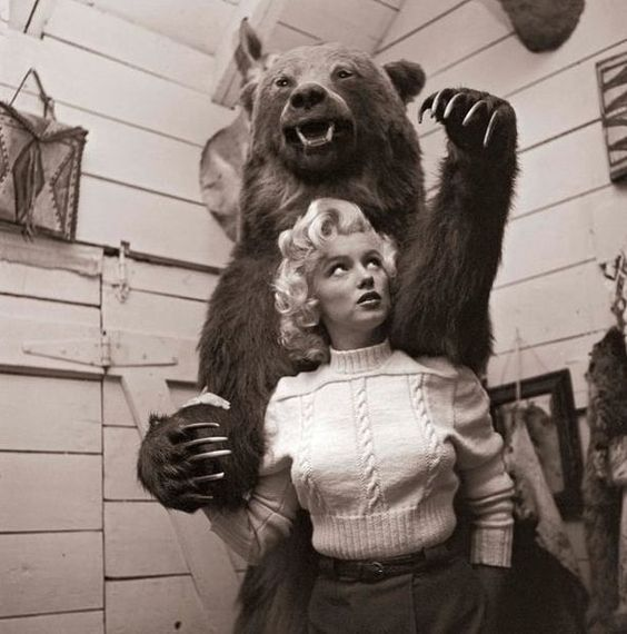 Marilyn and a Bear