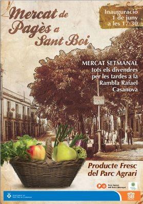 MERCAT DE PAGÉS SANT BOI DE LLOBREGAT | Mercados ecológicos ecoagricultor.com