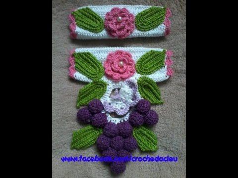 Puxador de Geladeira em Crochê - Flor Lili - YouTube