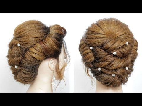 Bridal Updo Hairstyle For Long Medium Hair Youtube Bridal Hair Tutorial Hairstyle Prom Hairstyles For Long Hair