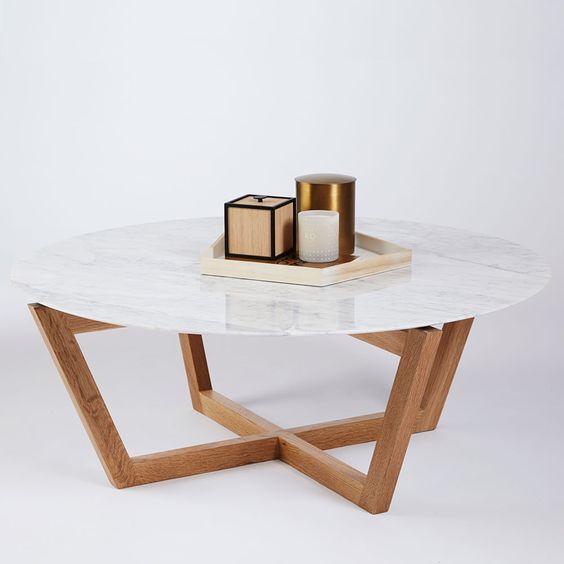 Round coffee tables coffee tables and carrara marble on pinterest Modern round coffee tables