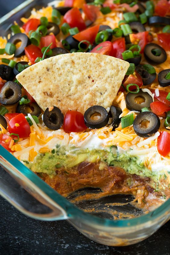 Packed with flavor and always a crowd pleaser Layer Bean Dip