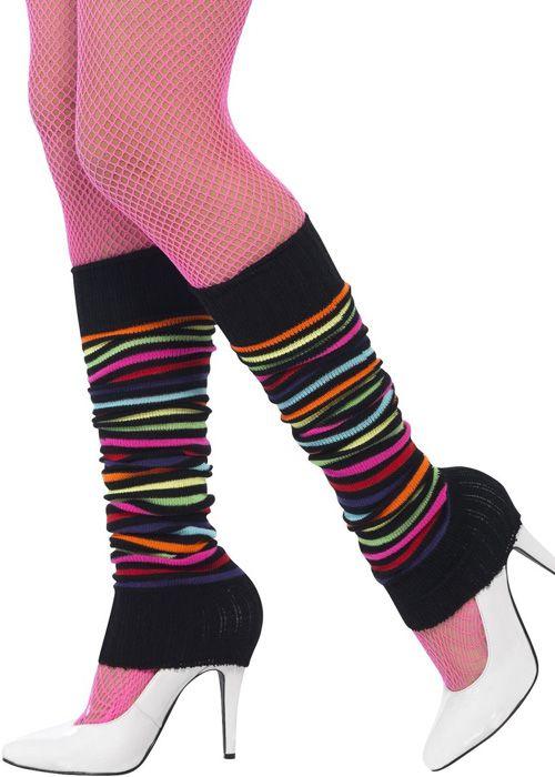 1980s Legwarmers 80s Fancy Dress Party Accessory Leg Warmers-Costume-neon-bright