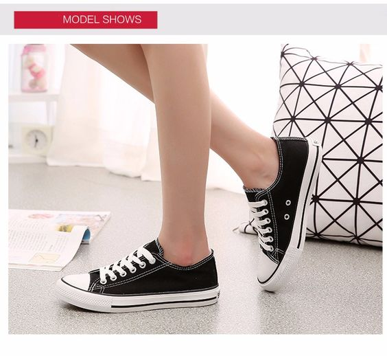 2016 Women Men Canvas Shoes New Fashion Lace-up Women Casual Shoes Classic Comfortable Men And Woman Flats Round Toe Shoes ST428 (1)