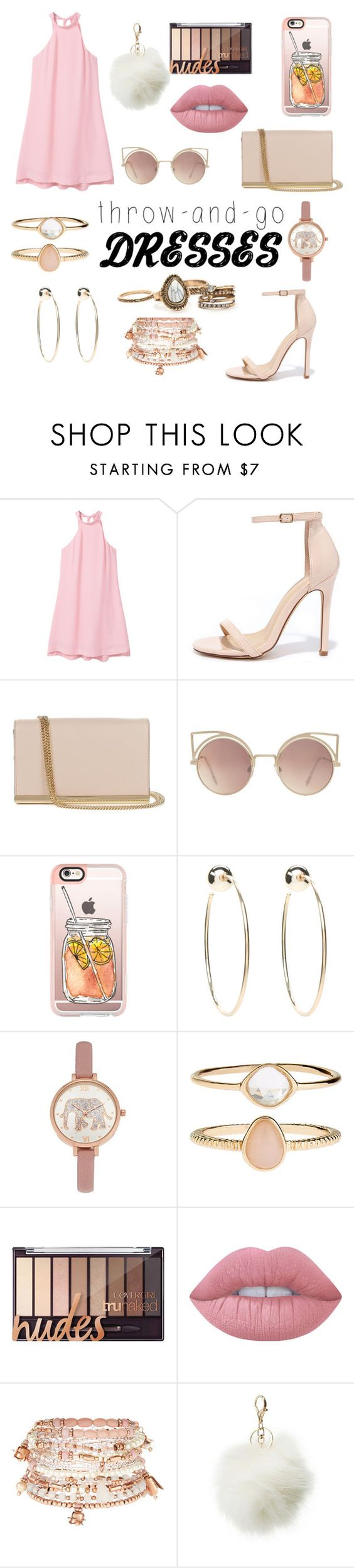 """""""Easy Casual Dress Combination"""" by seasonally ❤ liked on Polyvore featuring MANGO, Liliana, Diane Von Furstenberg, Casetify, Bebe, Accessorize, Lime Crime and Charlotte Russe"""