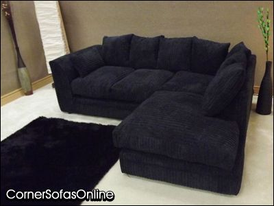 Details About DYLAN JUMBO CORD BLACK FABRIC CORNER GROUP