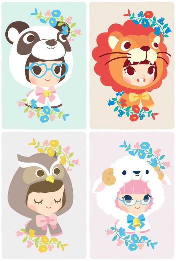 Character Design Kawaii : Cute characters character illustration and behance on