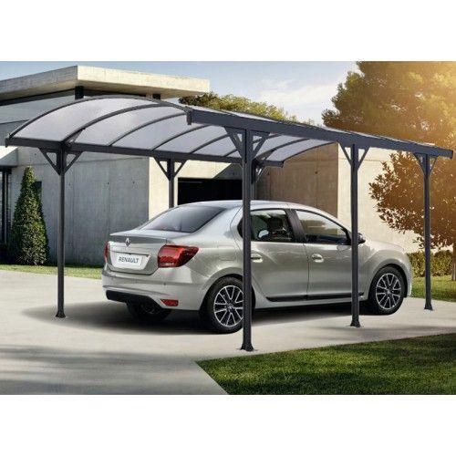 Carport Avec Couverture Pvc Pour Une Voiture En 2020 Polycarbonate Chalet De Jardin Carport Aluminium