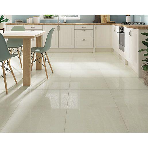 600 X 600mm Wickes Co Uk Beige Tile Kitchen Floor Porcelain Tile Floor Kitchen Beige Tile Kitchen