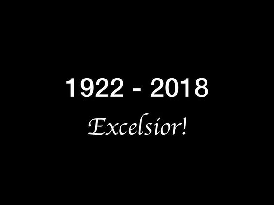 RIP King of Cameos. The most Marvelous hero in any universe. Excelsior!