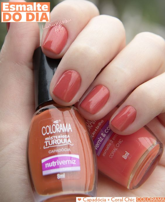 Esmalte do Dia: Capadócia + Coral Chic, Colorama