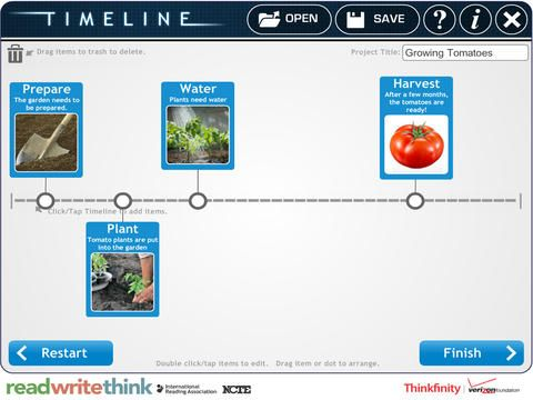 RWT Timeline RWT Timeline is a wonderful free iPad app (by Read - readwritethink resume generator