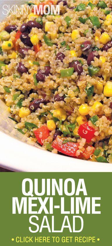Quinoa Mexi-Lime Salad: 4 1/2 cups cooked quinoa 1 can black beans ...