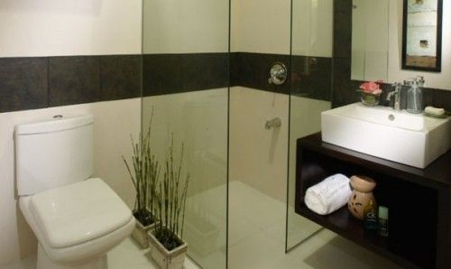 bathroom decorating small spaces pinterest small bathroom condo interior design and small condo - Bathroom Design Ideas In The Philippines