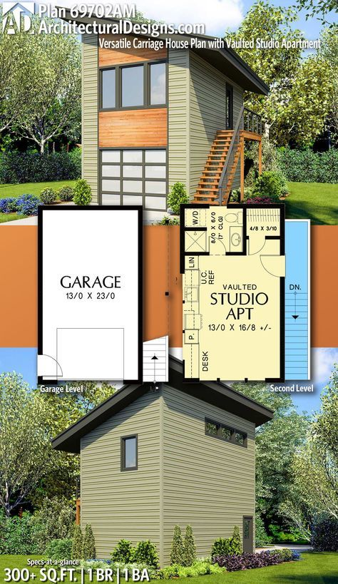 Plan 69702am Versatile Carriage House Plan With Vaulted Studio Apartment Carriage House Plans Carriage House Plans Garage Apartments House Plans