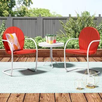 Stickel 3 Piece Seating Group Rattan Furniture Set Outdoor