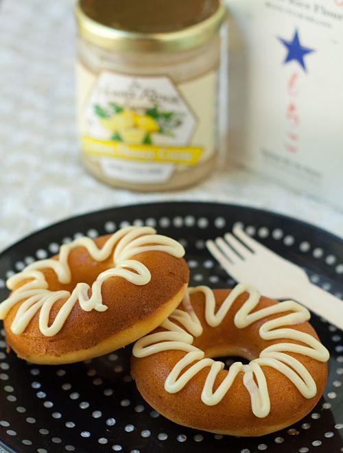 Baked Lemon Honey Crème Mochi Mochi Donuts